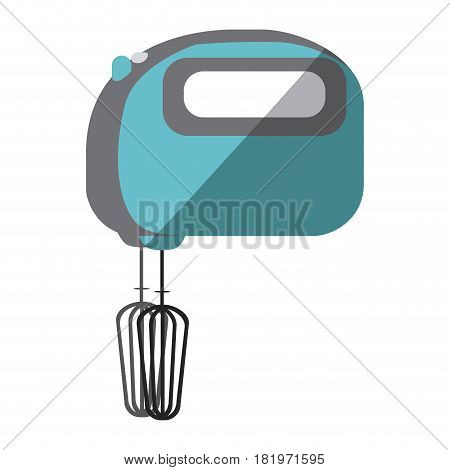blue color silhouette of kitchen mixer vector illustration