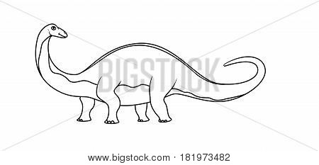 Coloring book: brontosaurus on a white background