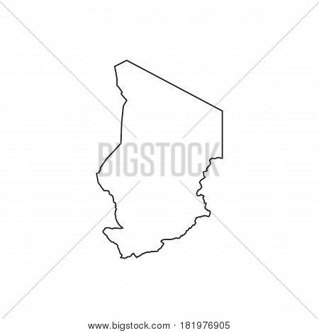 Chad map on the white background. Vector illustration