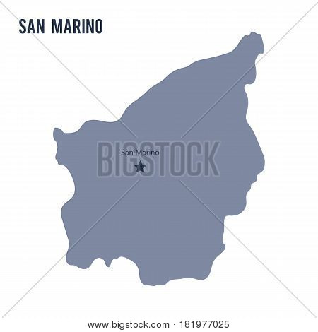 Vector map of San Marino isolated on white background. Travel Vector Illustration.