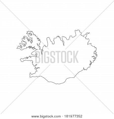 Republic of Iceland map on the white background. Vector llustration