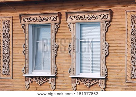 Windows With Carved Architraves