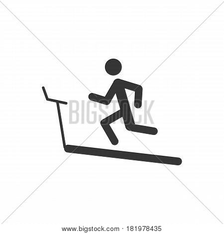 running track on the white background. Vector llustration