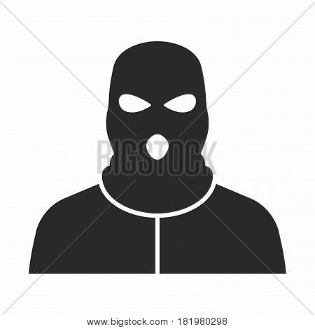 Bandit. Vector icon isolated on white background.