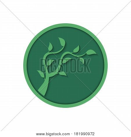 Eco lifestyle concept. Green sapling. Vector illustration.
