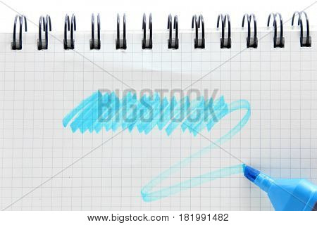 pen with  blank vintage graph paper spiral binding note book, your text can be added on colored area