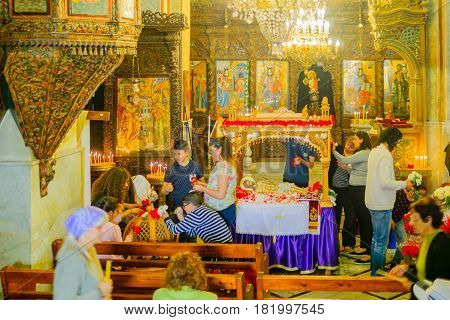 Easter Preparations In The Greek Orthodox Church Of Annunciation