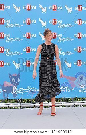 Giffoni Valle Piana, Sa, Italy - July 23, 2016 : Jennifer Aniston at Giffoni Film Festival 2016 - on July 23, 2016 in Giffoni Valle Piana, Italy