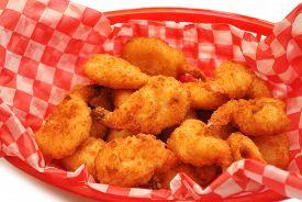 Crispy Deep Fried Shrimp in a Take-Out Basket