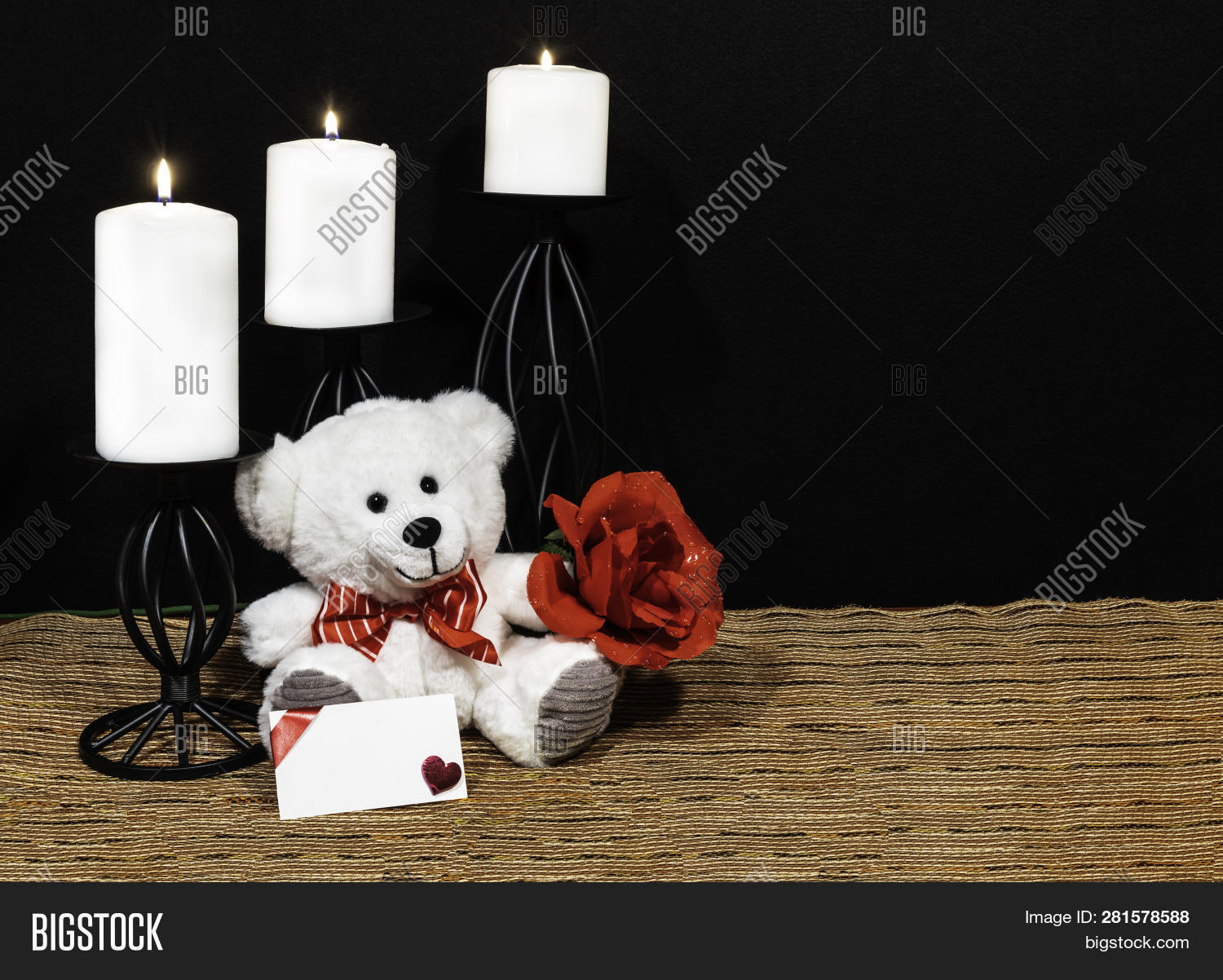 Cudlely Teddy Bear Red Image Photo Free Trial Bigstock