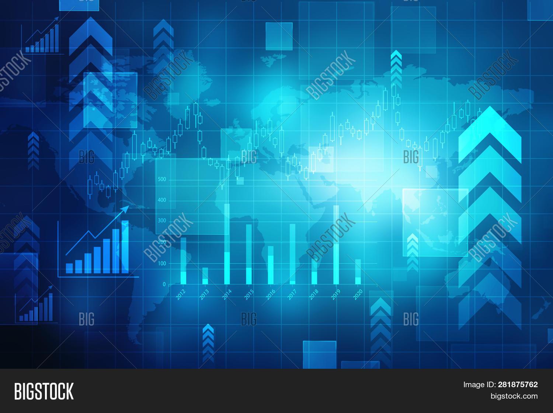 Stock Market Chart Image Photo Free Trial Bigstock