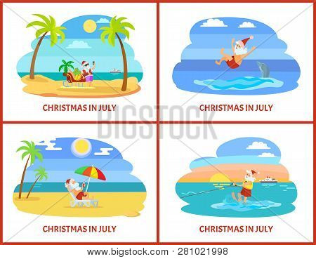 Christmas In July Clipart Free.Christmas July Vector Photo Free Trial Bigstock