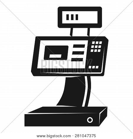 Cash Register Icon. Simple Illustration Of Cash Register Vector Icon For Web Design Isolated On Whit