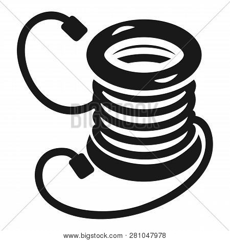 Electro extension coil icon. Simple illustration of electro extension coil vector icon for web design isolated on white background poster
