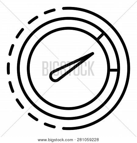 Drive Tachometer Icon. Outline Drive Tachometer Vector Icon For Web Design Isolated On White Backgro
