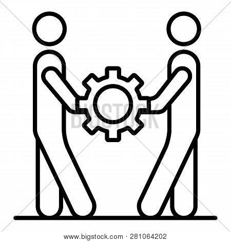 People cohesion icon. Outline people cohesion vector icon for web design isolated on white background poster