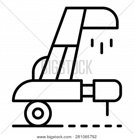 Wheat collector equipment icon. Outline wheat collector equipment vector icon for web design isolated on white background poster