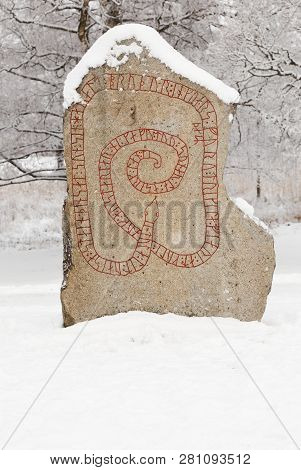 The Gripsholm Rune Stone Is A Runestone With Runic Inscriptions From The 11 Th Century And It Is Loc