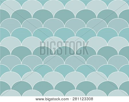 Beautiful Gradient Blue Color Wave Or Curve Background In Minimal And Modern Trendy Geometric Concep
