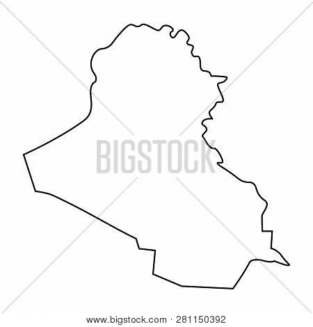 Map Iraq - Outline  Vector & Photo (Free Trial) | Bigstock