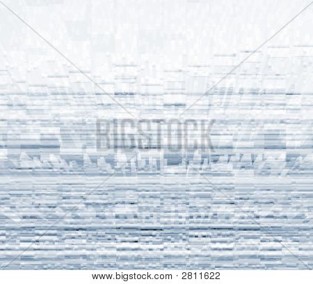 Abstract image of extruded shapes from line pattern poster