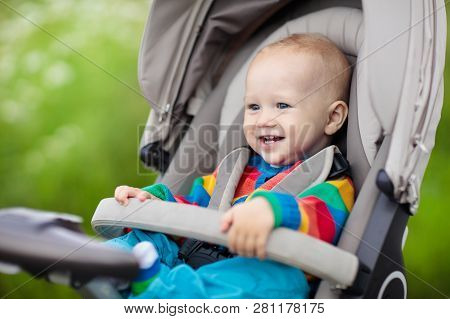 Little Baby In Stroller