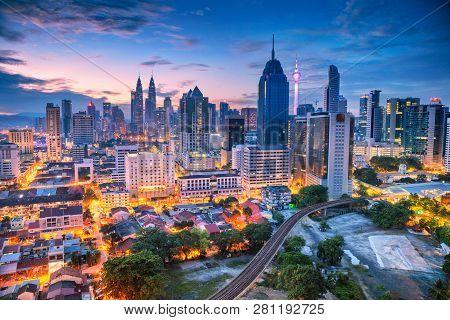 Kuala Lumpur. Aerial Cityscape Image Of Kuala Lumpur, Malaysia During Sunrise.