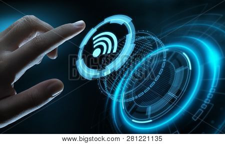 Wi Fi Wireless Concept. Free Wifi Network Signal Technology Internet Concept.