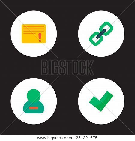 Set Of Task Manager Icons Flat Style Symbols With Complete, Important Task, Remove Member And Other