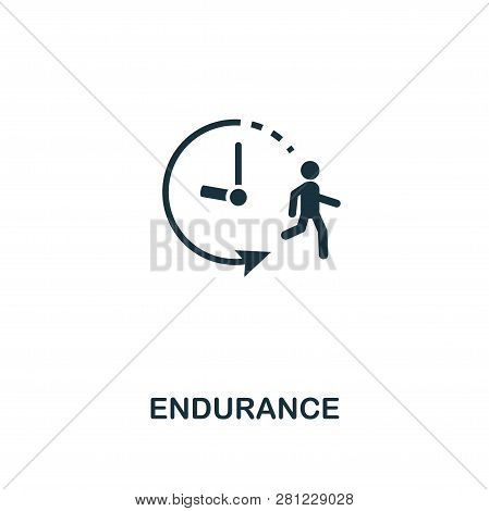 Endurance Icon. Premium Style Design From Fitness Icon Collection. Pixel Perfect Endurance Icon For