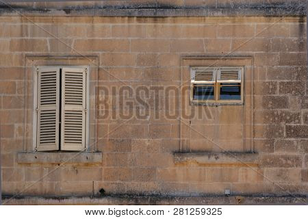 Detail Of A Frontage Of A House In Malta