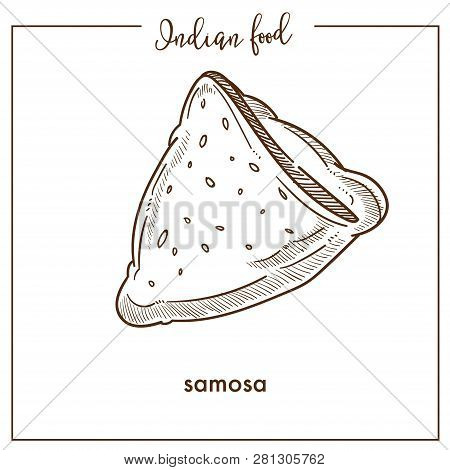 Delicious Crispy Triangular Samosa From Traditional Indian Food.
