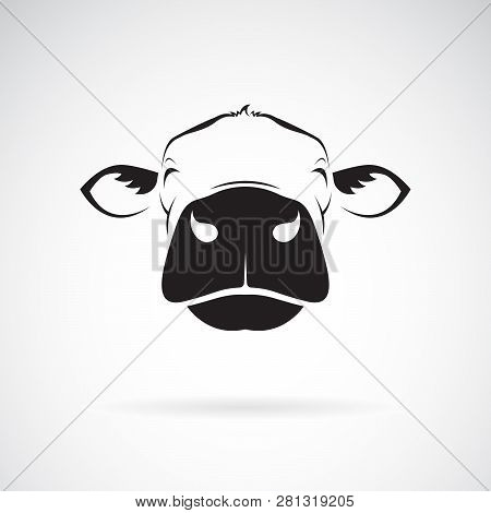 Vector Of Cow Head Design On A White Background. Animals Farm. Easy Editable Layered Vector Illustra