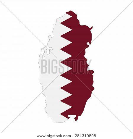 Map Qatar Flag Inside Vector & Photo (Free Trial) | Bigstock