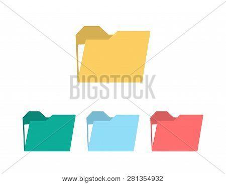 Folder Icons Set. Folders Vector. Color Icons Folder. Web Design