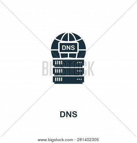 Dns Icon. Premium Style Design From Web Hosting Icon Collection. Pixel Perfect Dns Icon For Web Desi