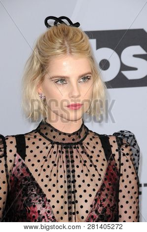 LOS ANGELES - JAN 27:  Lucy Boynton at the 25th Annual Screen Actors Guild Awards at the Shrine Auditorium on January 27, 2019 in Los Angeles, CA
