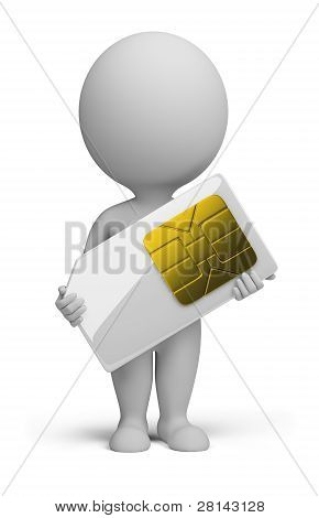 3D Small People - Sim Card