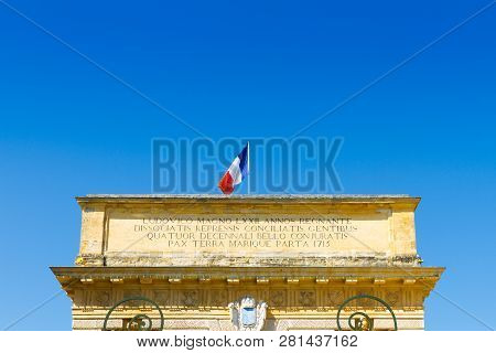 Porte Du Peyrou, Montpellier, France. Inscr: Louis The Great Reigned 72 Yr., Conspirator Nations Wer