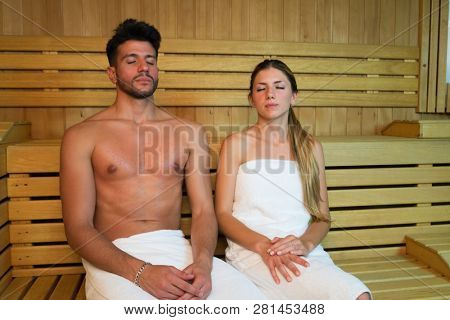 Couple steam bath sauna