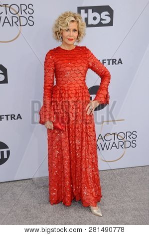 Jane Fonda at the 25th Annual Screen Actors Guild Awards held at the Shrine Auditorium in Los Angeles, USA on January 27, 2019.