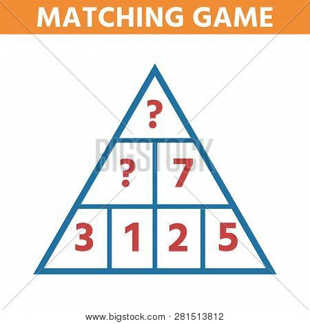 Math Educational Game For Children. Can You Solve This Children Funny Riddle Entertainment. Find Rig