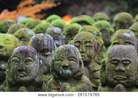 A Stone Statues Representing Disciples Of Buddha.