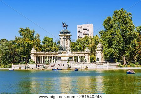 Retiro Park - City Park In The Center Of Madrid, Spain