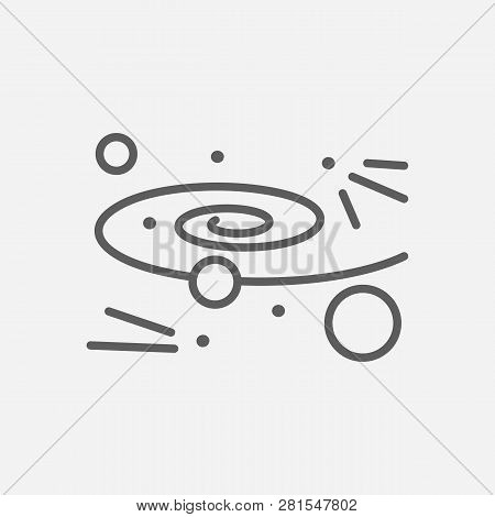 Cosmology Icon Line Symbol. Isolated  Illustration Of  Icon Sign Concept For Your Web Site Mobile Ap