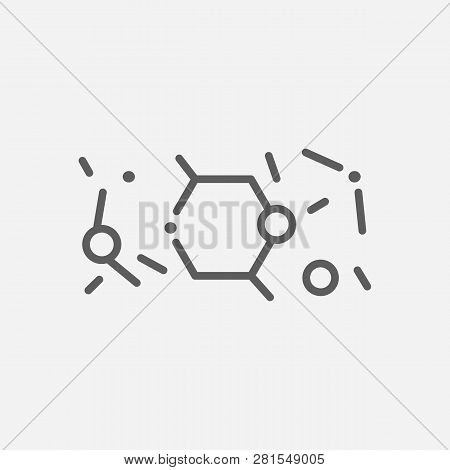 Condensed Matter Physics Icon Line Symbol. Isolated  Illustration Of  Icon Sign Concept For Your Web