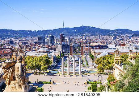 Barcelona. Spain .plaza Of Spain In Barcelona