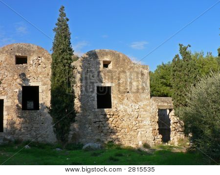 Partial Old Castle At Rethymnon