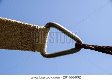 Iron Tie Rod With Steel Cable - Close Up