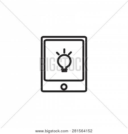 Tablet Vector Icon On White Background. Tablet Icon In Modern Design Style. Tablet Vector Icon Popul